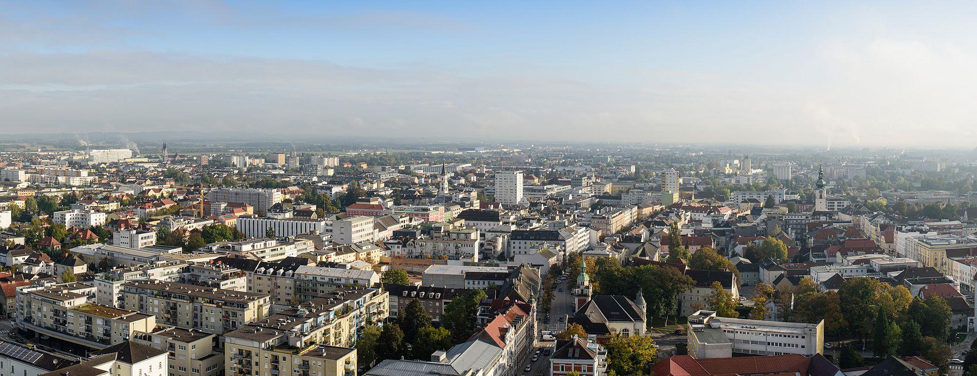 Panoramabild von Wels