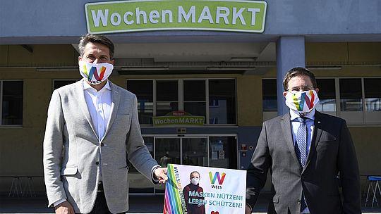 Wochenmarkt - Bild mit Maske