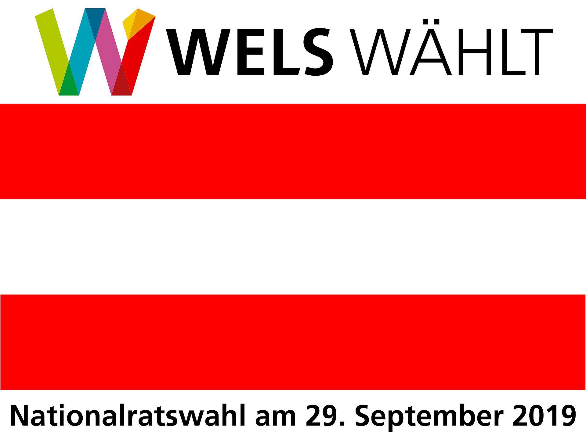 Wels wählt Logo - Nationalratswahl 2019