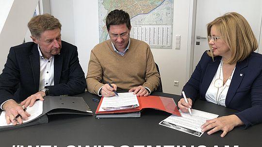 Vizebürgermeister Gerhard Kroiß, Bürgermeister Dr. Andreas Rabl, Vizebürgermeisterin Christa Raggl-Mühlberger