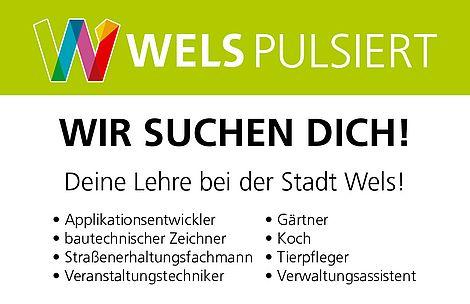 Lehre bei der Stadt Wels - Auflistung Lehrberufe