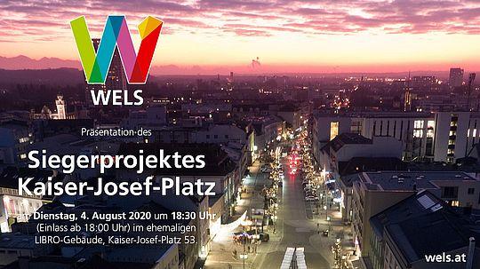 Kaiser-Josef-Platz Überblick mit Logo und Infos zum Siegerprojekt
