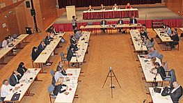 Gemeinderat der Stadt Wels bei Sitzung