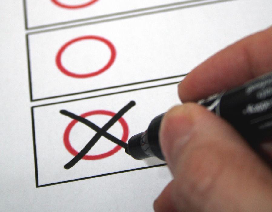 Imagefoto eines Stimmzettels
