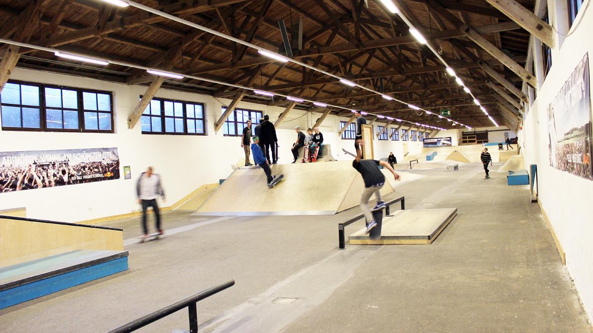 Skateboardhalle in Wels
