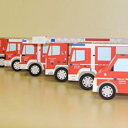 Bild verschiedener Feuerwehrautos