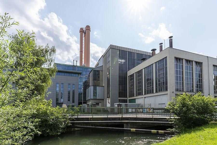 Das Welser Fernheizkraftwerk in Lichtenegg.