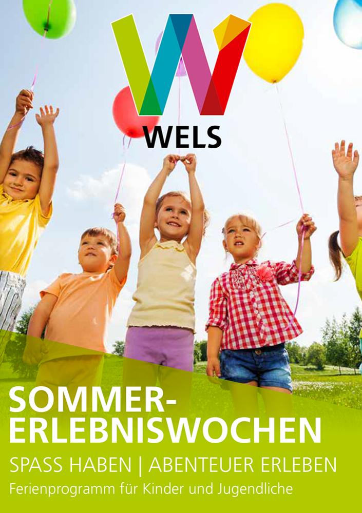 Titelblatt des Programmheftes zu den Sommer-Erlebniswochen der Stadt Wels