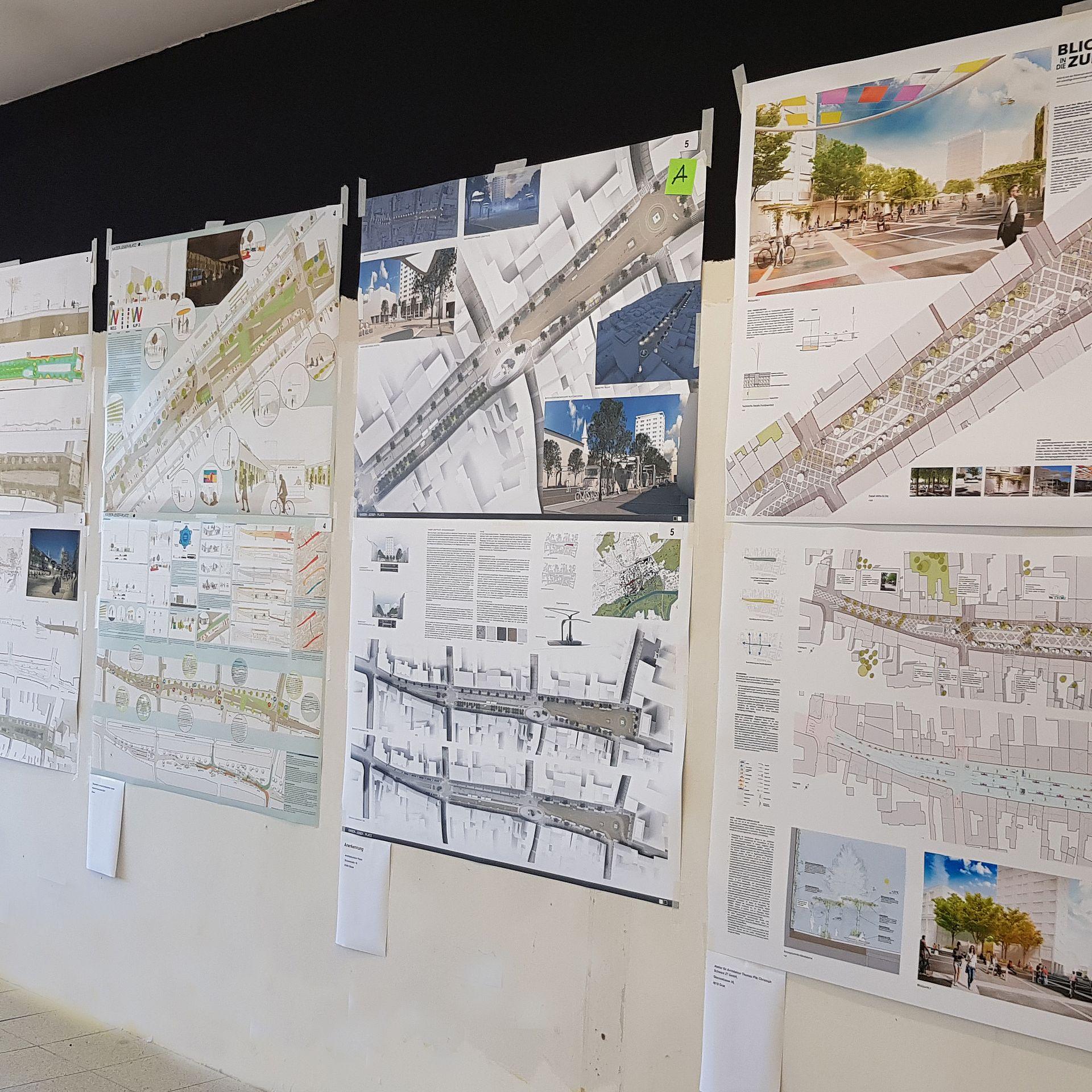 Ausstellung der Wettbewerbsprojekte im Libro am Kaiser-Josef-Platz