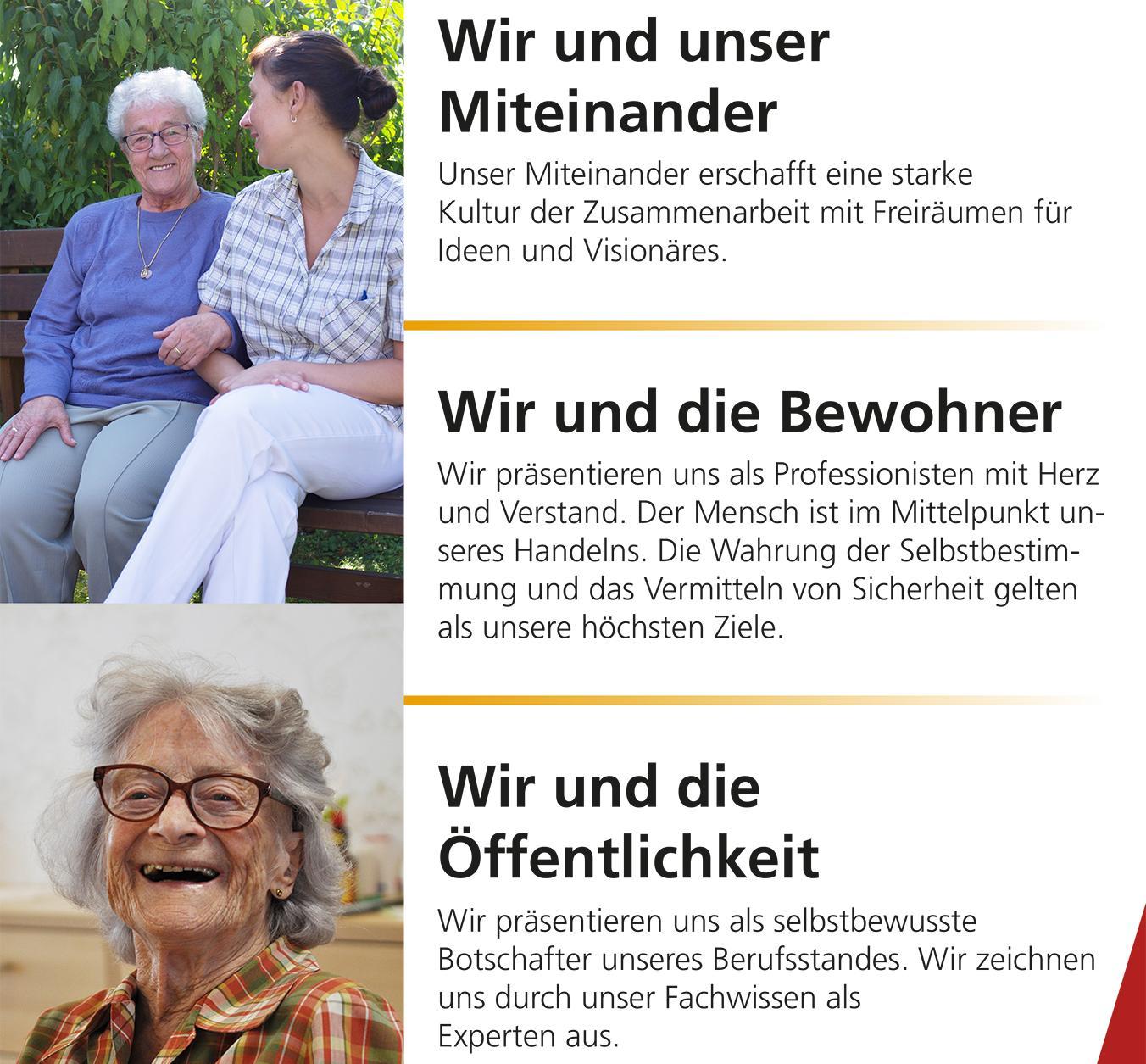 Leitlinien der Seniorenbetreuung, Plakat