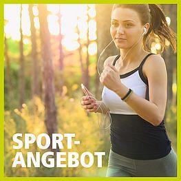Sportangebot - Frau joggt im Freien