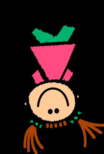 Illustration von einem fröhlichem Kind