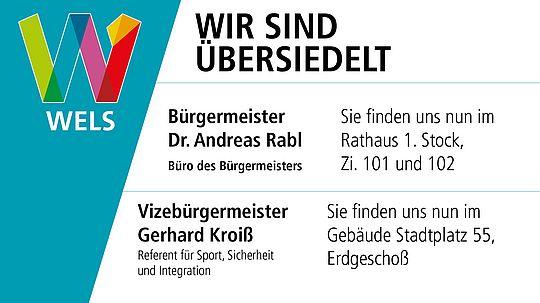 hausinterner Umzug Bürgermeister Dr. Rabl und Vizebürgermeister Kroiß