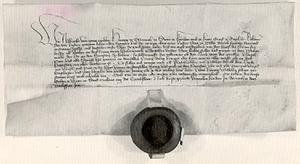 Urkunde Nr. 57 Wien, 1412 Feber 24, Pergament mit vorhandenem Siegel Herzog Albrechts V. bewilligit der Stadt Wels zusätzlich zum Samstag-Wochenmarkt einen zweiten Dienstag abzuhalten.