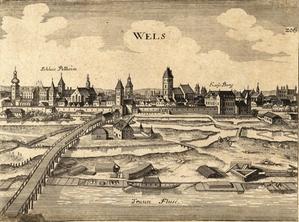 Ansicht von Wels 1647