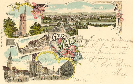 """""""Corresondenz-Karte"""" mit Poststempel vom 02.10.1896"""