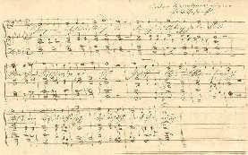 """Passionslied für Andachten """"In jener letzten der Nächte"""", o.D. (vermutlich 1848), Handschrift von Anton Bruckner, im StAW (Druck: WAB 17)"""