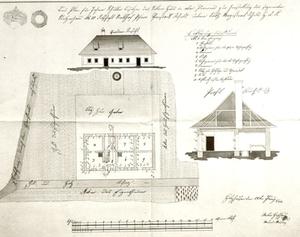 Bauplan für Johann Schuller, Herstellung des sog. Stelzenhauses Nr. 10, Ortschaft Stadlhof, Pfarre Vorstadt Wels, 28. Juni 1844