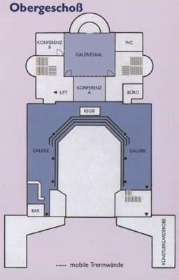 Plan Stadthalle Obergeschoss