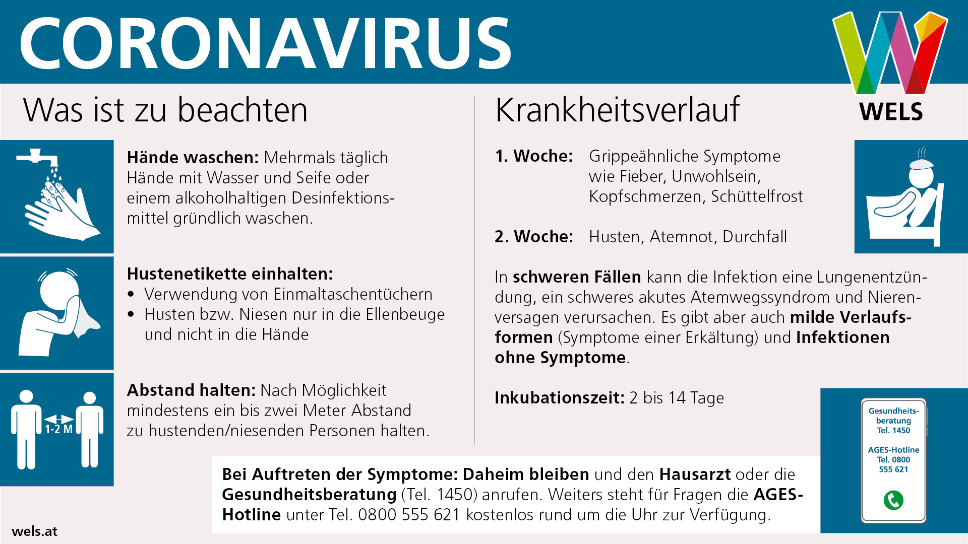 Coronavirus: Was ist zu beachten? Krankheitsverlauf und Was ist bei Symptomen zu tun?