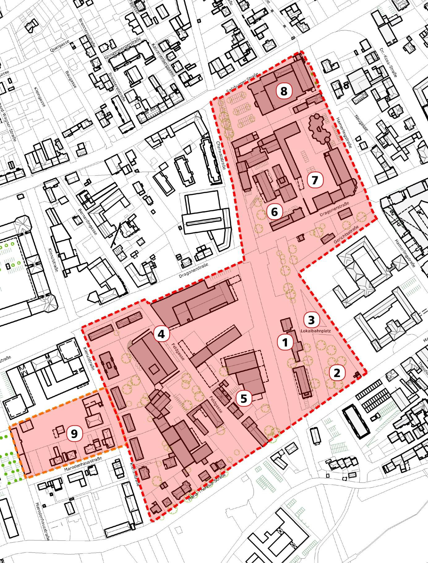 Lokalbahnhof Stadtplan